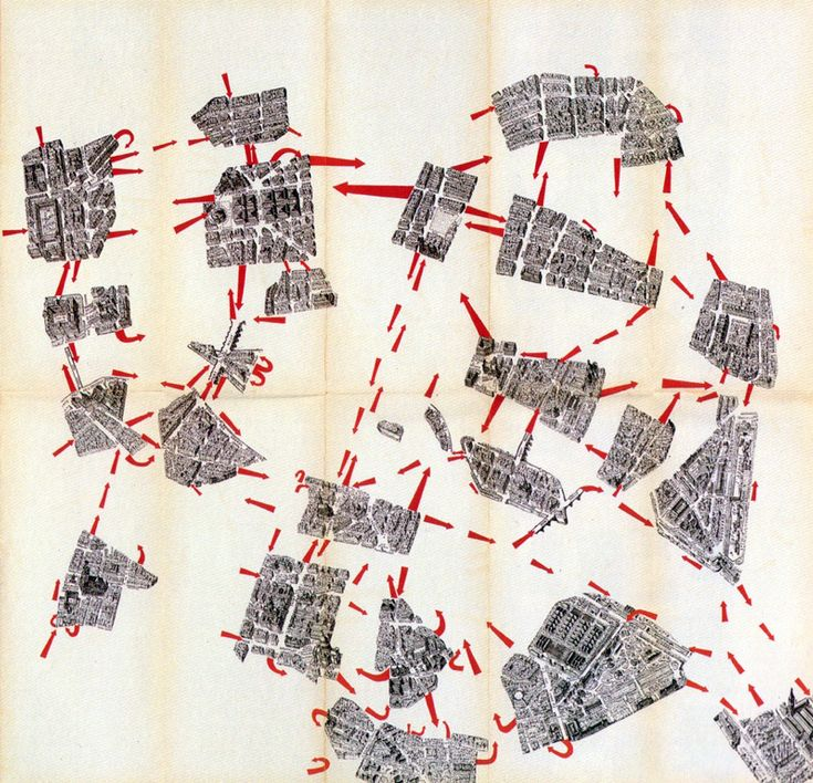 Guide Psychogeographique de Paris, Guy Debord, (Cover), 1957