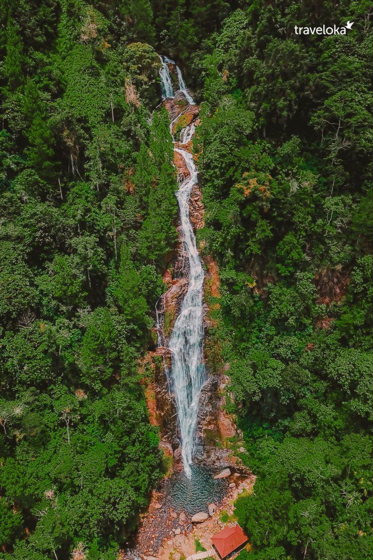The great natural waterfall at Toraja, Makassar di 2020