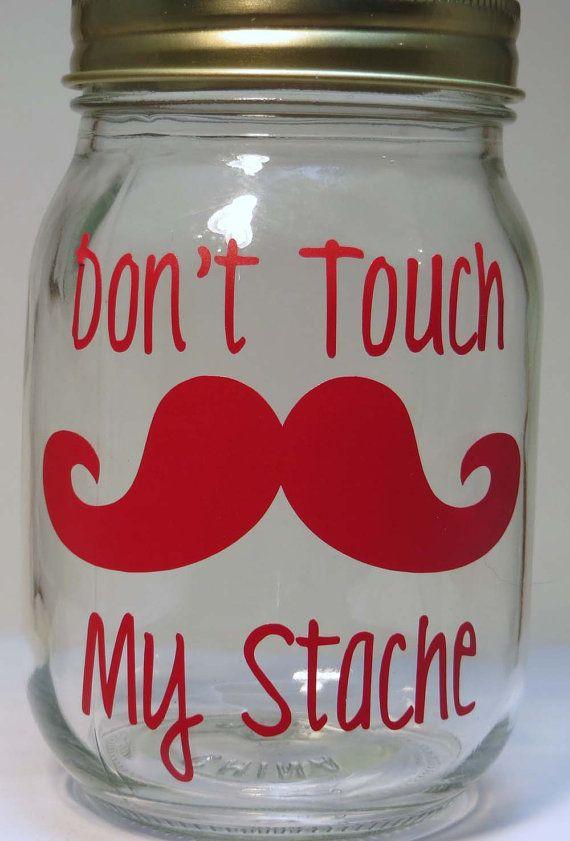 Mustache Piggy Bank Savings Jar My Stache by ThePoshShoppe on Etsy, $10.00