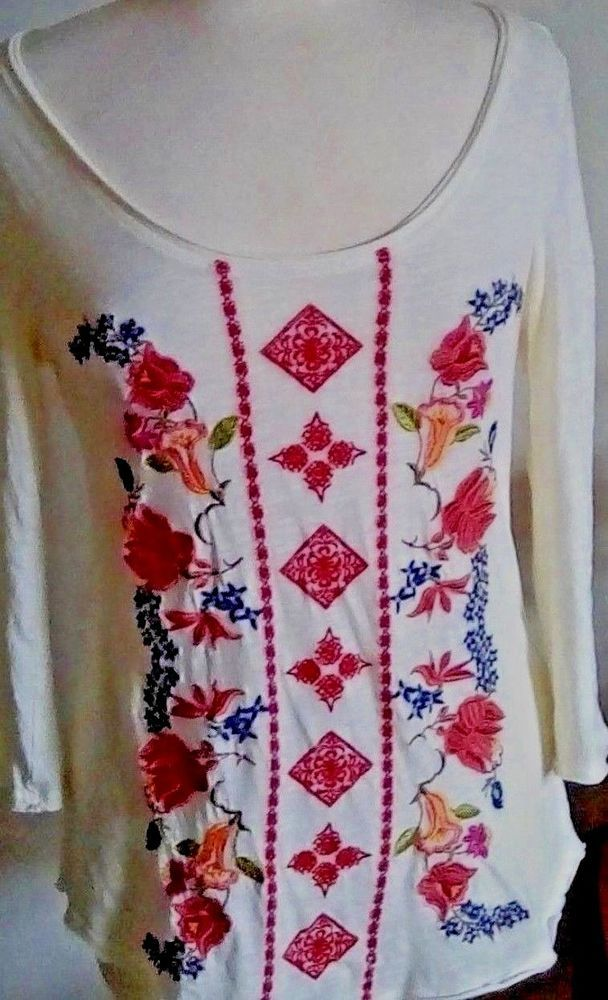 46602ebf10f Sundance Catalog Lot of 2 XS tops embroidered Casual Tunic Smock Cotton  Pretty #fashion #clothing #shoes #accessories #womensclothing #tops (ebay  link)