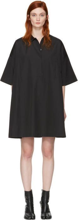 Acne Studios Black Sena Dress #acneclothing