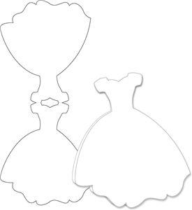 Silhouette Online Store: wedding dress card