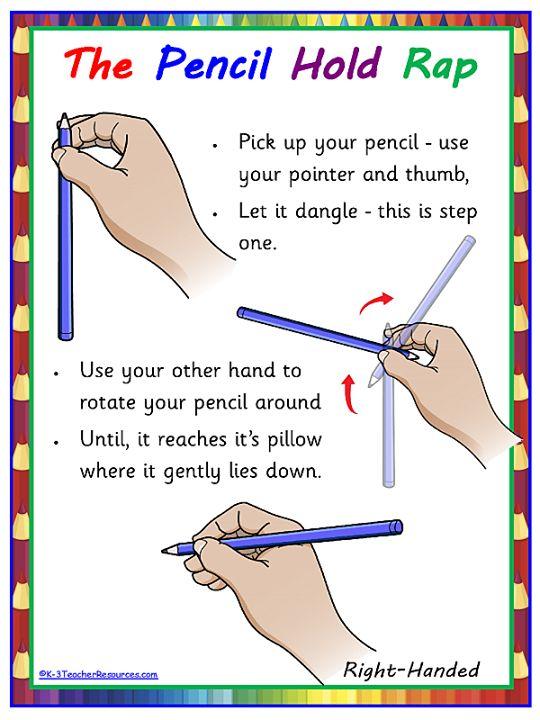 correct pencil grip poster