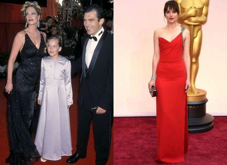 Celebrity na Oscarech tehdy a nyní - Dakota Johnson