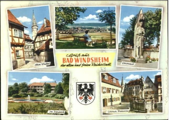 PLZ Bad Windsheim mit Karte | Postleitzahlen 91438 Bayern Deutschland