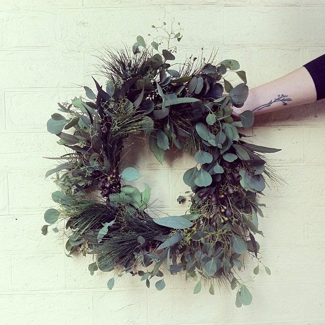 Wreath made from native Australian flora