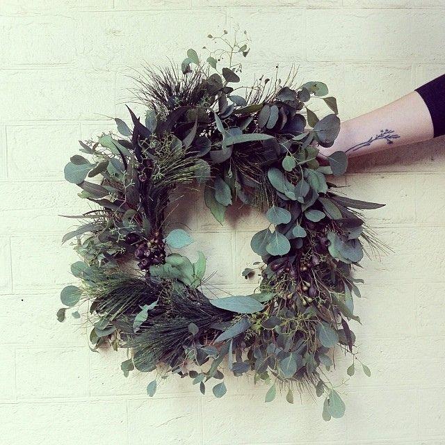 Wreath made from native Australian flora