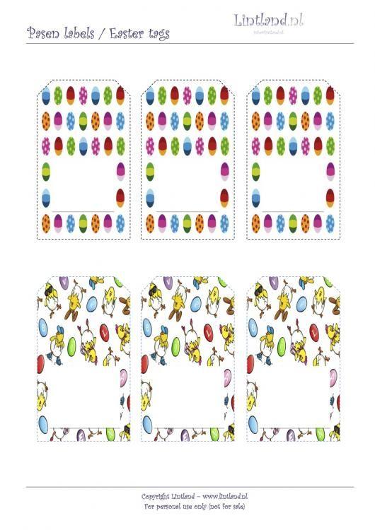 Labels / Tags - Lintland, Easter tags, free printable, tags, paaslabels, Pasen, gratis afdrukken www.lintland.nl