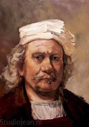 Rembrandt self portrait 1662 by Jean Elliot.
