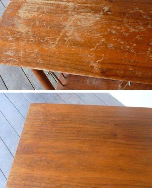 Sådan fixer du slidte teak møbler! | Moss Room