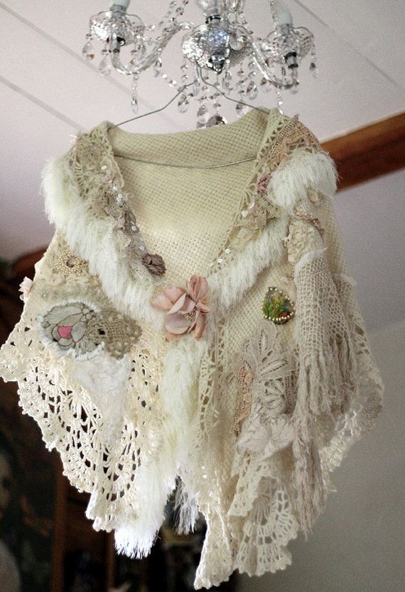 Hey, I found this really awesome Etsy listing at https://www.etsy.com/listing/249907697/blanche-bohemian-shabby-chic-shrug-or