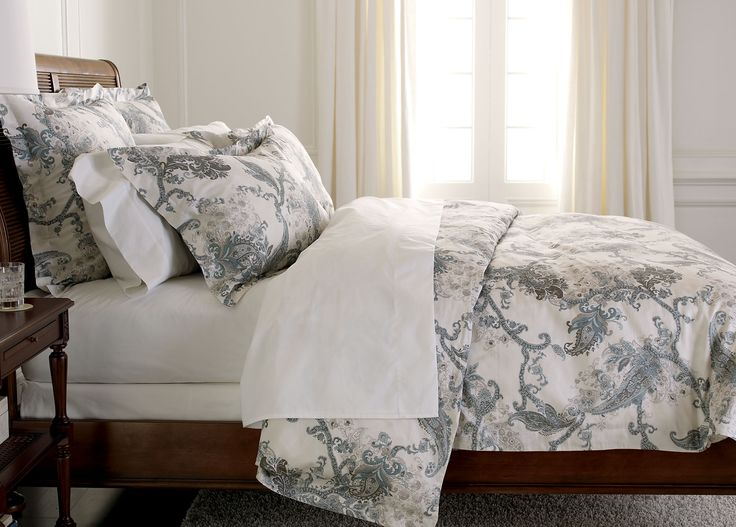 Wynsome Paisley Duvet Cover   Ethan Allen