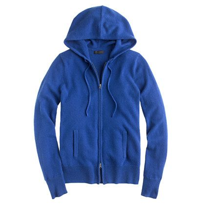 Collection cashmere zip-front hoodie-238.00