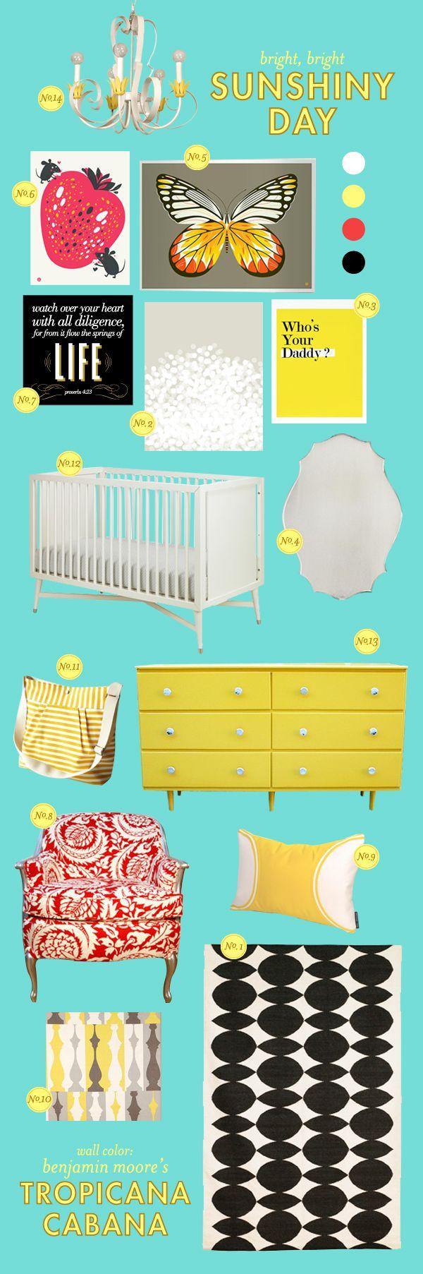 baby moodboards via lay baby layNurseries Inspiration, Baby Kidsroom, Aqua Baby Nurseries, Girls Room, Colors Palettes, Lay Baby Lay, Baby Room, Girls Nurseries, Bright Colors