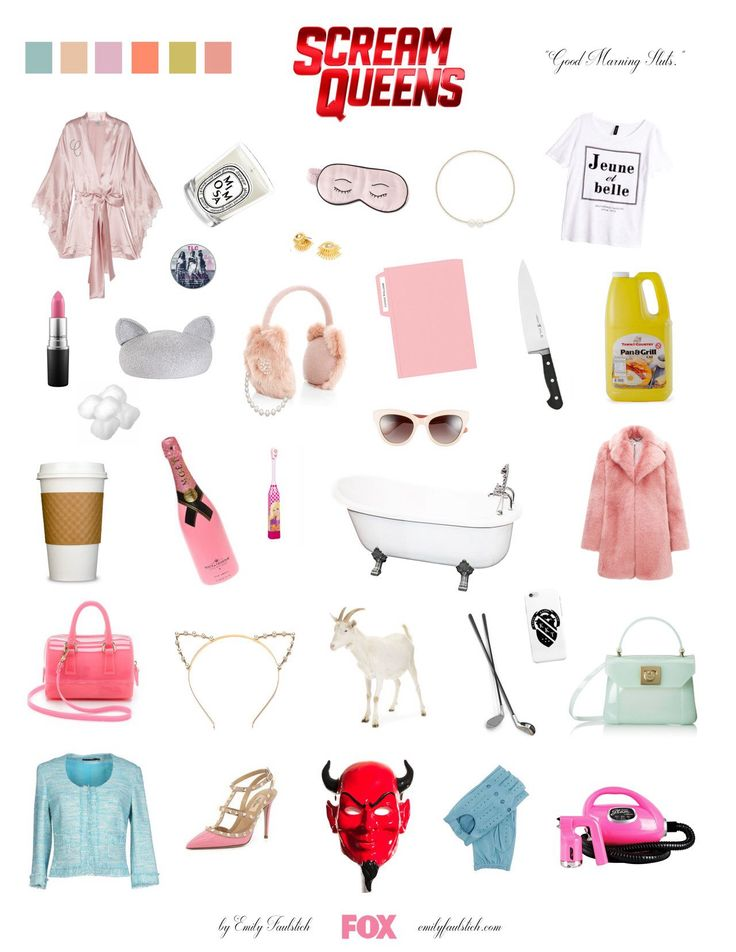 Starter pack for all fans of Scream Queens. Everything for me please 😇
