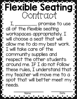 Un contrato con los estudiantes. Puede ser sobre reglas, sobre estudio.