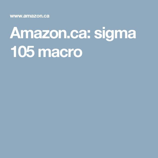 Amazon.ca: sigma 105 macro