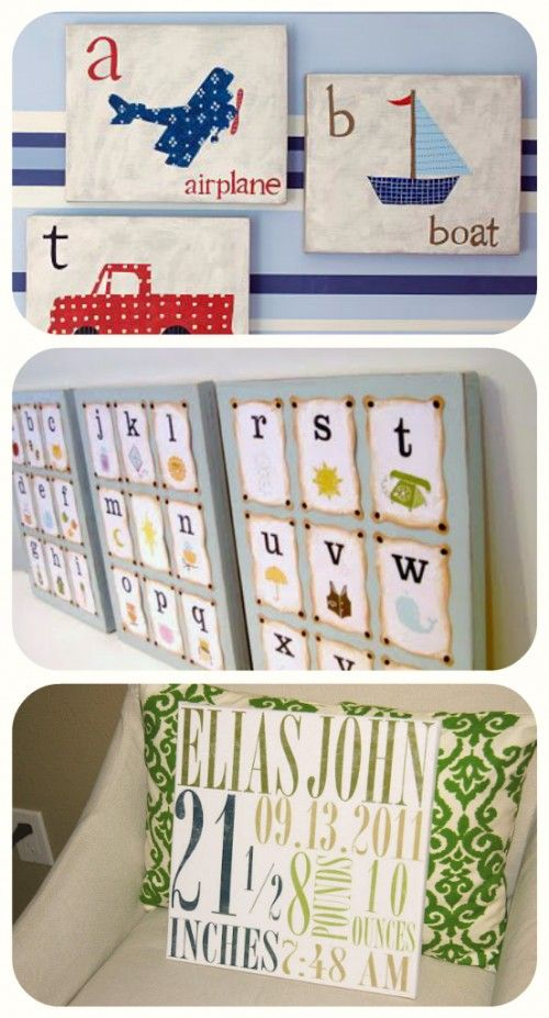 I really like the alphabet being broken into 3 canvases.. maybe that's how I can frame Patricks' abc's...Wall Art, Shower Gifts, Gift Ideas, Baby Shower Gift, Baby Room, Baby Gift, Alphabet Art, Homemade Gift, Baby Shower