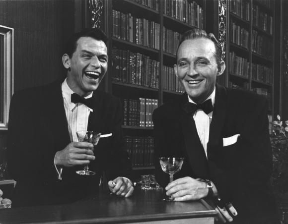 """Frank Sinatra """"…loved Tanqueray gin, but it didn't love him."""" That didn't stop him from hanging with Bing Crosby, and having a ball."""