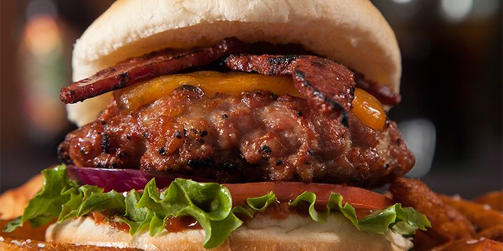 Duck Bacon Burgers - Add spices to All Natural Ground Duck and top with Duck Bacon for a juicy, flavorful alternative to beef burgers. Great on the grill!