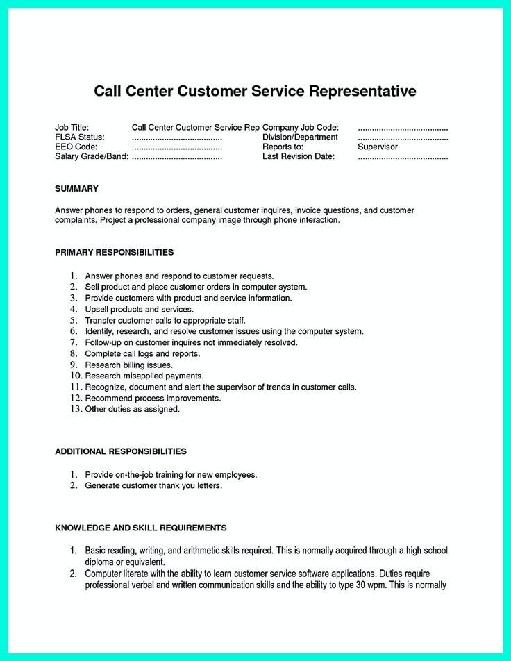 2695 best Resume Sample Template And Format images on Pinterest - call center resume samples