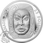 Canada: 2014 $25 Matriarch Moon Mask Ultra High Relief Silver Coin