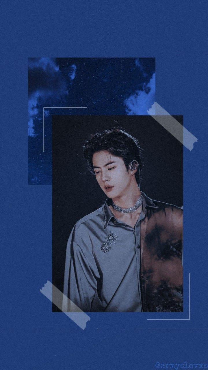 Wallpaper Jin Blue Kpop Wallpaper Bts Wallpaper Bts Pictures Bts jin wallpaper kpop