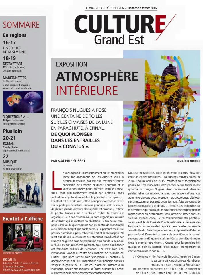 Francois Nugues - Article - Press - Art - Exposition - Conatus