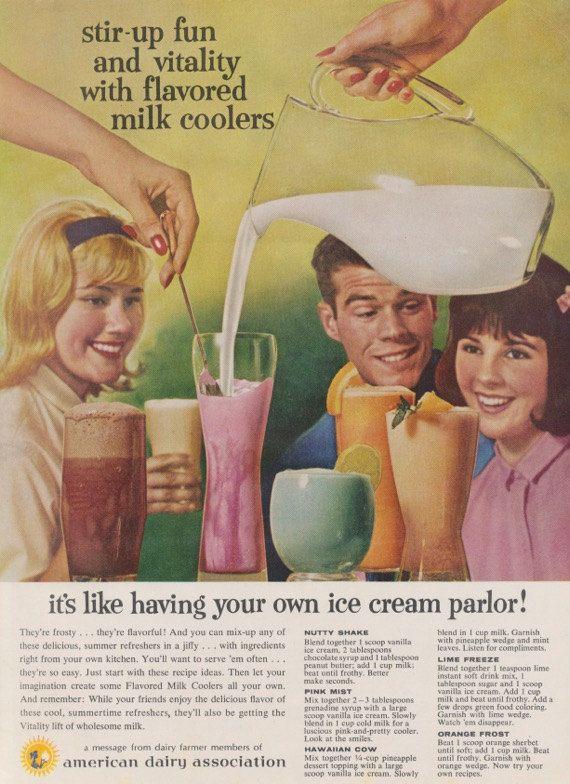 1960er Jahre American Dairy Association Ad Kitsch von AdVintageCom