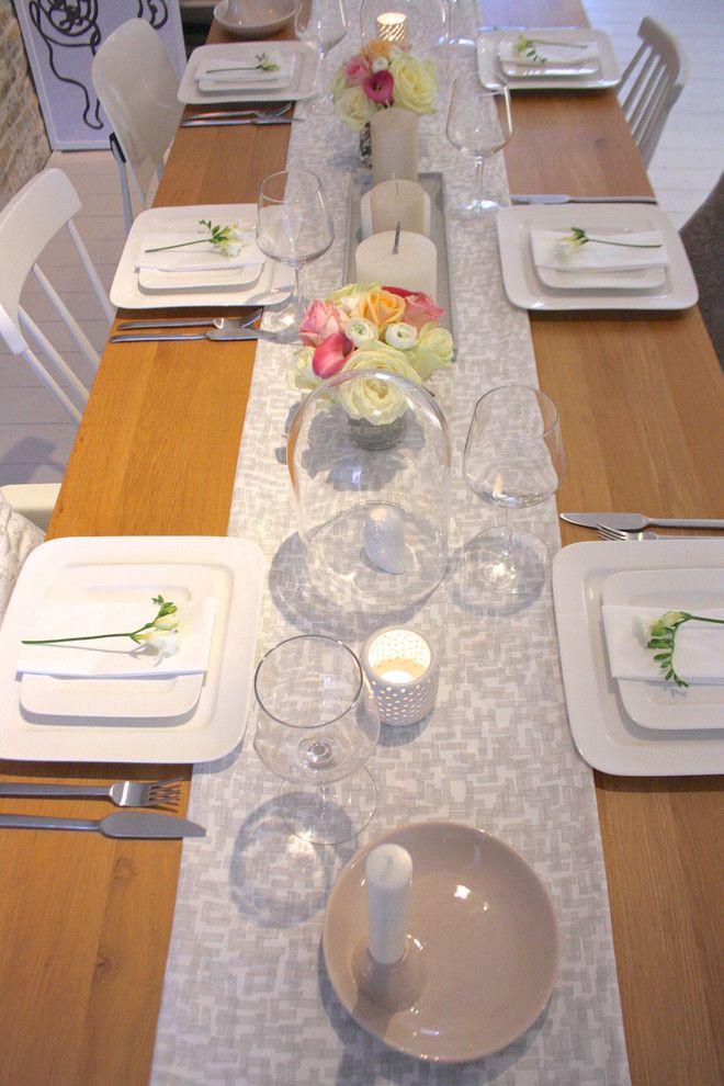 Оформление обеденного стола на Рождество