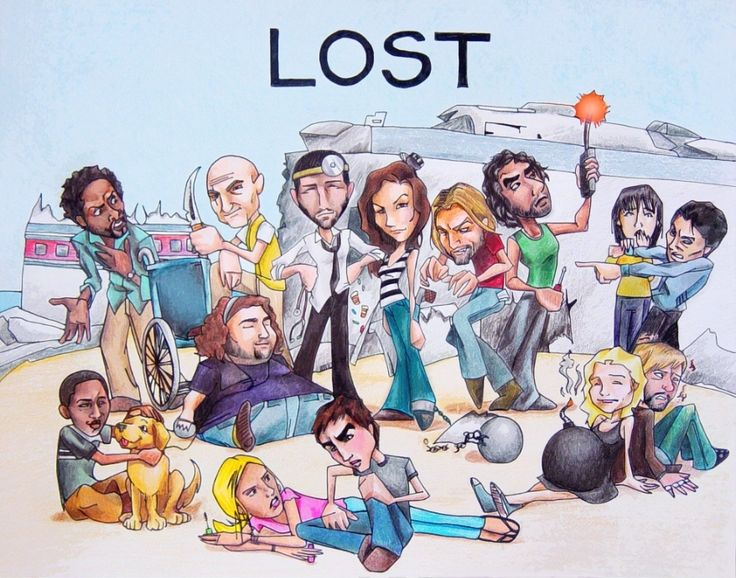 LOST. Michael, Locke, Jack, Kate, Sawyer, Sayid, Sun, Jin. Hurley. Walt, Vincent, Shannon, Boone, Claire, and Charlie.