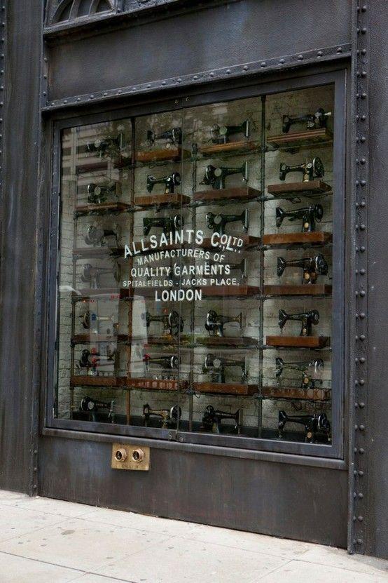 Vintage sewing machines- industrial chic!
