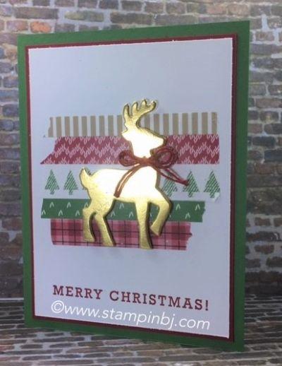 Santa's Sleigh, Stampin' Up!, BJ PEters, #santa'ssleigh, #stampinup, #holidaycatalog, #stampinbj.com, #christmascard, #greetingsfromsanta