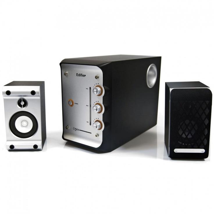 Edifier E3100: Caixa de Som 2.1Ch 28W RMS c/ Proteção Magnética e Subwoofer em MDF