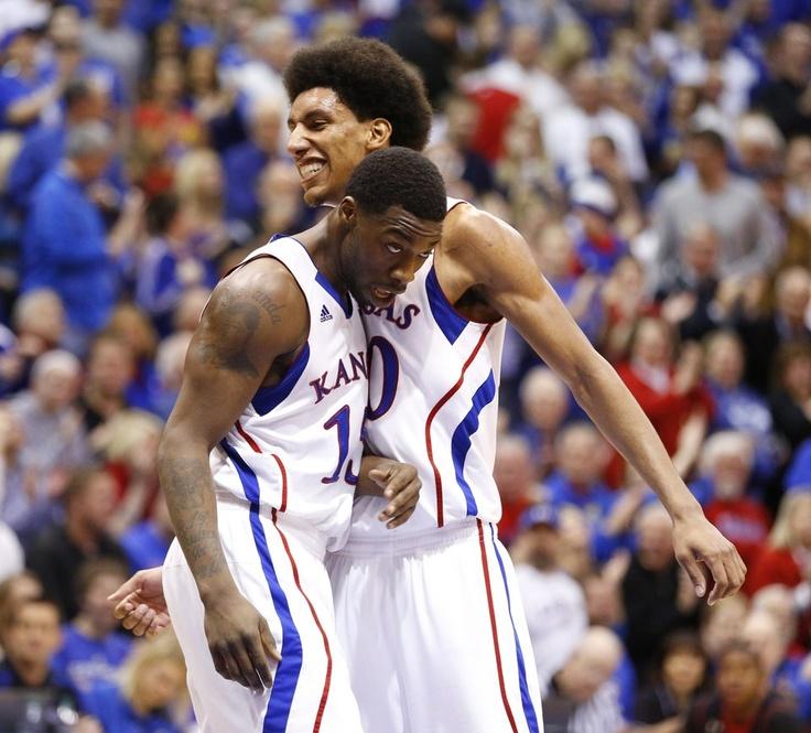 EJ and Young Kansas basketball, Senior night, Kansas