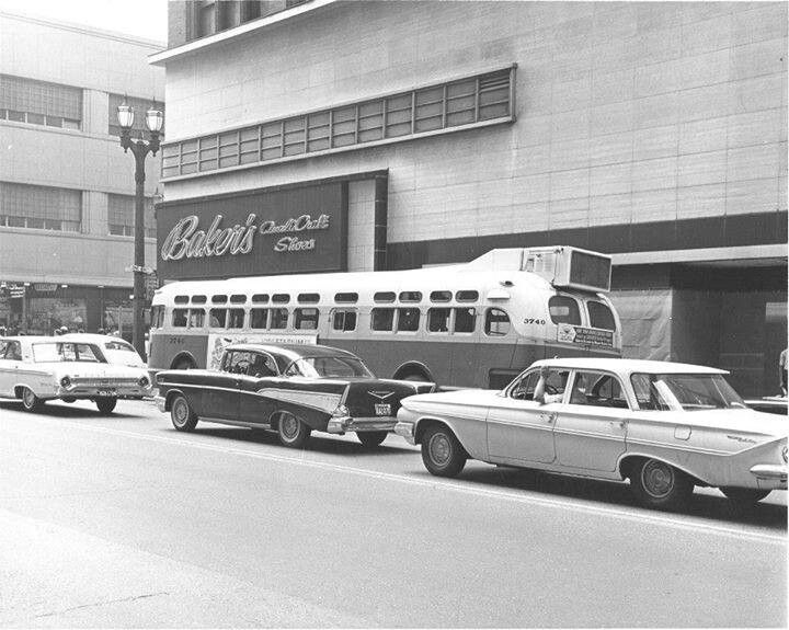St Louis- Bought a few pairs of shoes at Baker's and rode many of these buses.