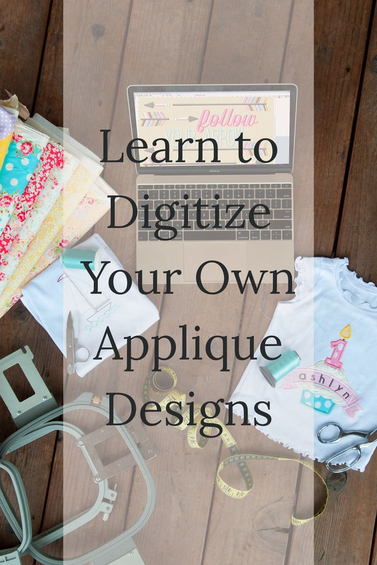 Really great video lessons - Learn how to digitize your own applique designs for your embroidery machine!