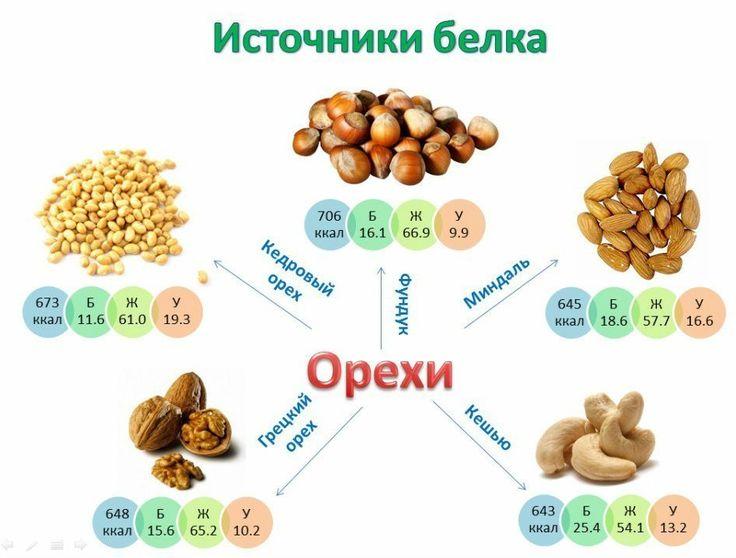 Фитнес-блог: Cодержание белка в орехах