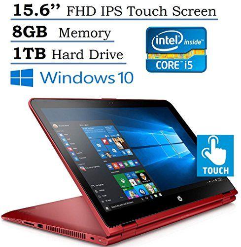 2016 HP Pavilion 15.6'' X360 2-in-1 Convertible IPS FHD (1920 x 1080) Touchscreen Laptop, Intel i5-6200U 2.3GHz Processor, 8GB RAM, 1TB HDD, Backlit Keyboard, HDMI, Bluetooth, Windows 10