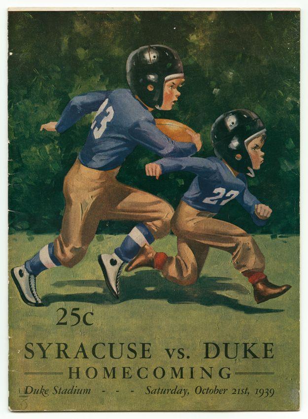 Duke v. Syracuse Homecoming Game Program, 1939. Duke University Archives