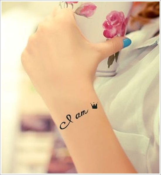 Cute Small Crown Tattoo Designs