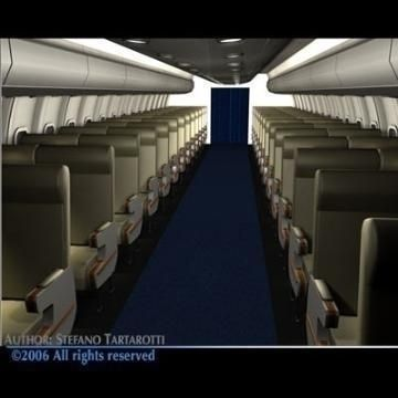 Interior plane 3D Model-   Detailed interior of an airliner (or high speed train).Only Cinema4d format has textures, materials and lights.The seats havent belts. - #3D_model #Aircraft Interiors