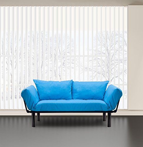 Merax Colorful Line Fabric Futon Sofa Sleeper Couch Loves