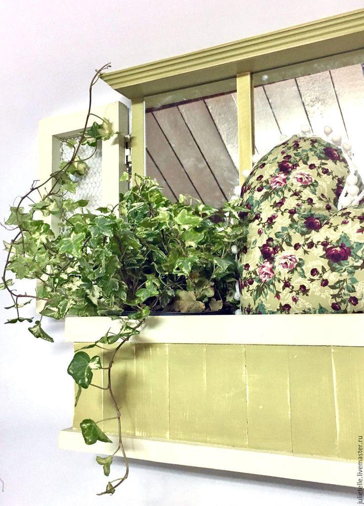Купить Настенная цветочница - салатовый, веранда, Декор, цветочница, весна, ящик для цветов, кашпо