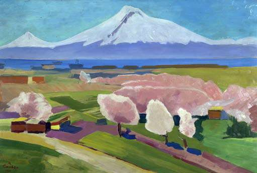 'Ararat', 1951 by Martiros Saryan (1880-1972, Russia)