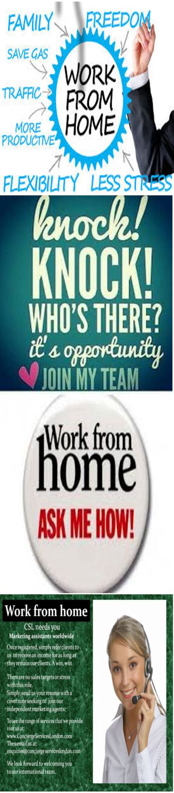 Find out how here. Work from home jobs, work from home part time, work from home data entry, work from home customer service, work from home companies, work from home jobs online, find a work from home job, ideas for a work from home business, how to be a work from home travel agent, telesales, selling jobs, marketing jobs, Freelance writing, freelance writing jobs, freelance jobs, freelance graphic design, freelance photography. www.conciergeserviceslondon,com