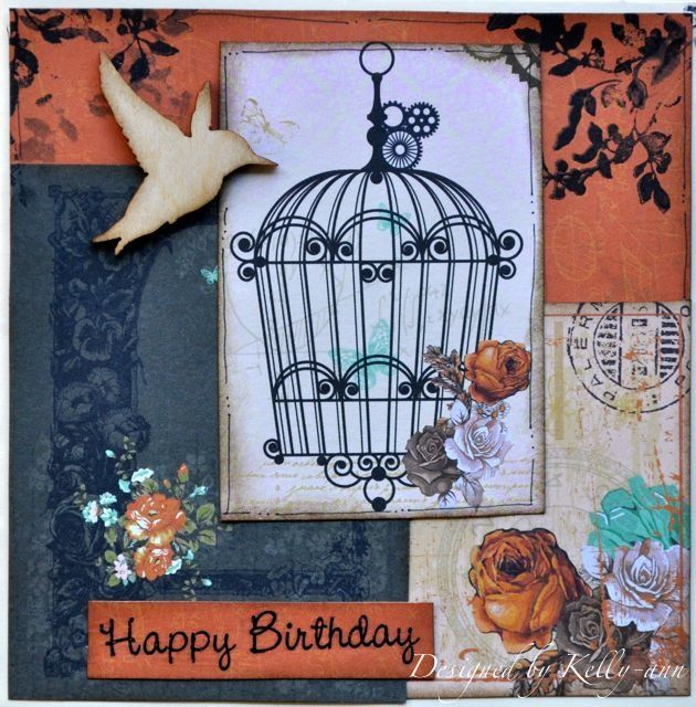 A Birthday card made using the Miss Empire collection from Kaisercraft. By Kelly-ann Oosterbeek.