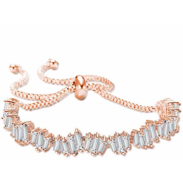 Exquisite Irregular Shape CZ Diamond Girl Adjustable Bracelet Fashion ($48) ❤ liked on Polyvore featuring jewelry, bracelets, cz jewellery, cz jewelry, cubic zirconia jewelry, diamond jewellery and diamond jewelry
