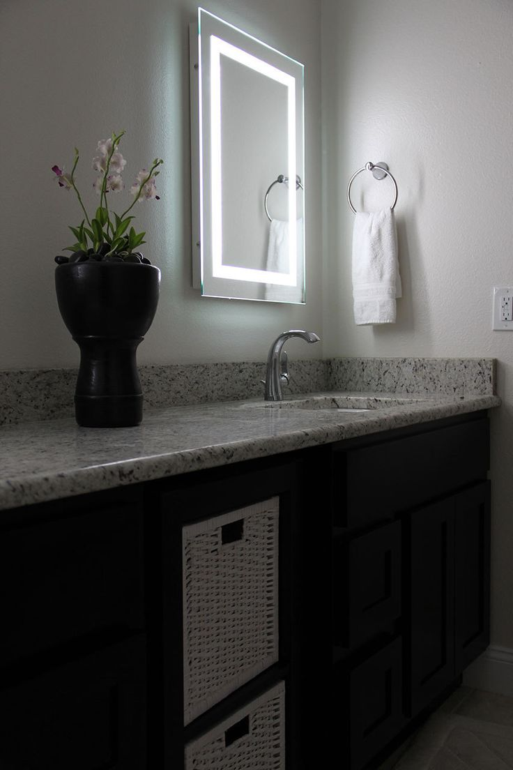Backlit mirrors for bathrooms u s a together with boffis thirteen to - Led Bordered Illuminated Mirror Large