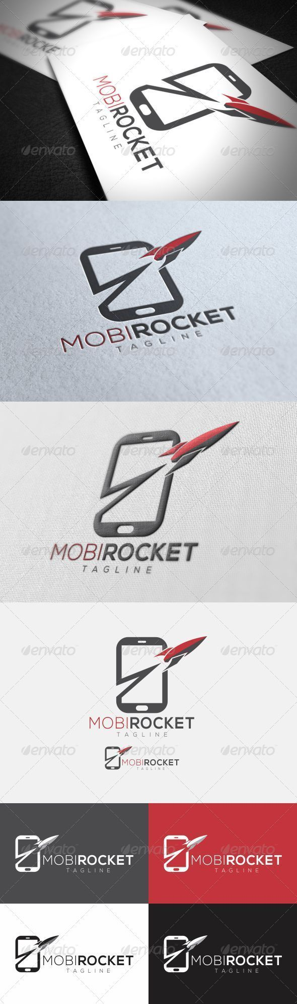 Below are two different file formats of the superman logo in a beveled - Mobile Rocket Logo Graphicriver